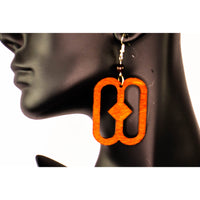 NYAME BIRIBI WO SORO/ Adinkra symbol/ Afrocentric/Bohemian/Cultural Conscious/Afro-Punk/West Africa Wood Earrings brown
