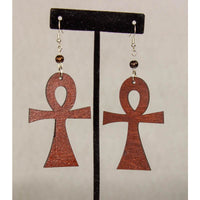 ANKH -Cultural Conscious/West African/AfroPunk Wood Brown Earring