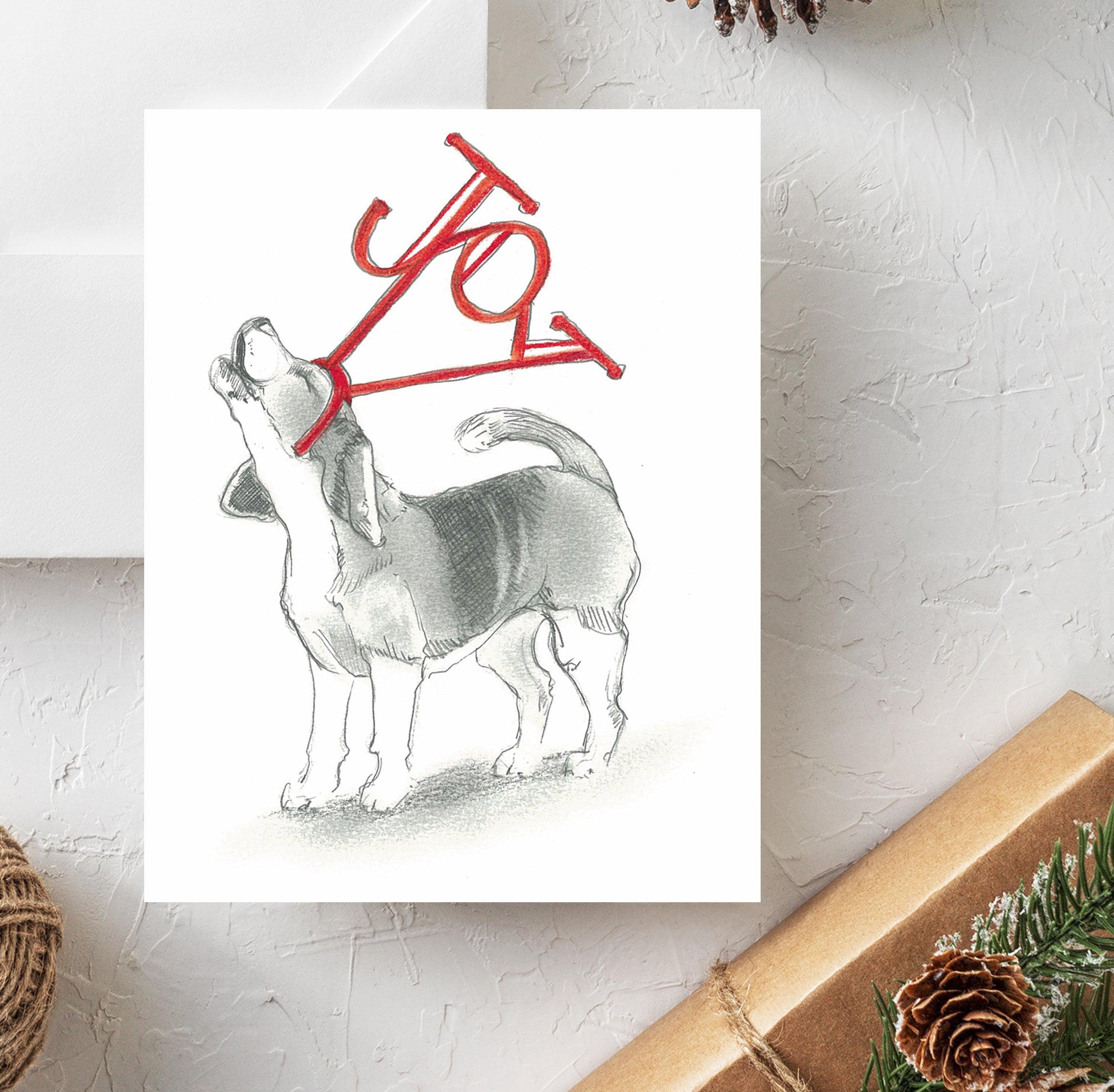 Shop for Dog Holiday Cards at Rachel Canada Artist: alsatian, am ...
