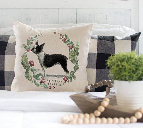 Boston Terrier decorative pillow