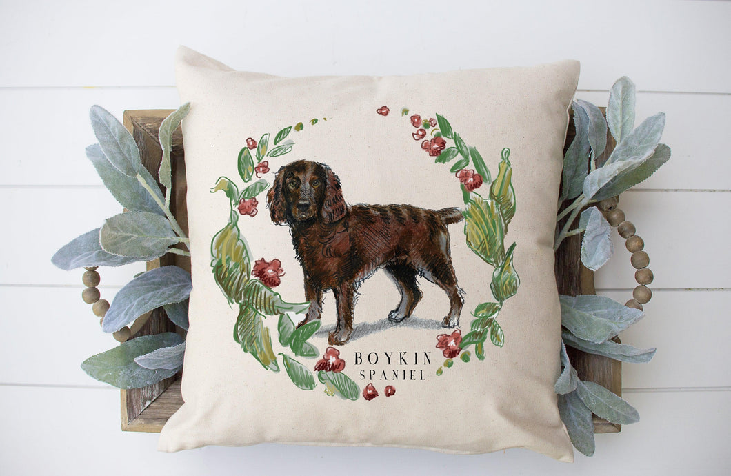 boykin spaniel decorative pillow