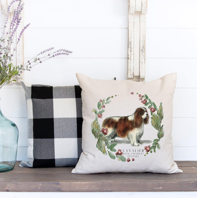 cavalier King Charles spaniel decorative pillow