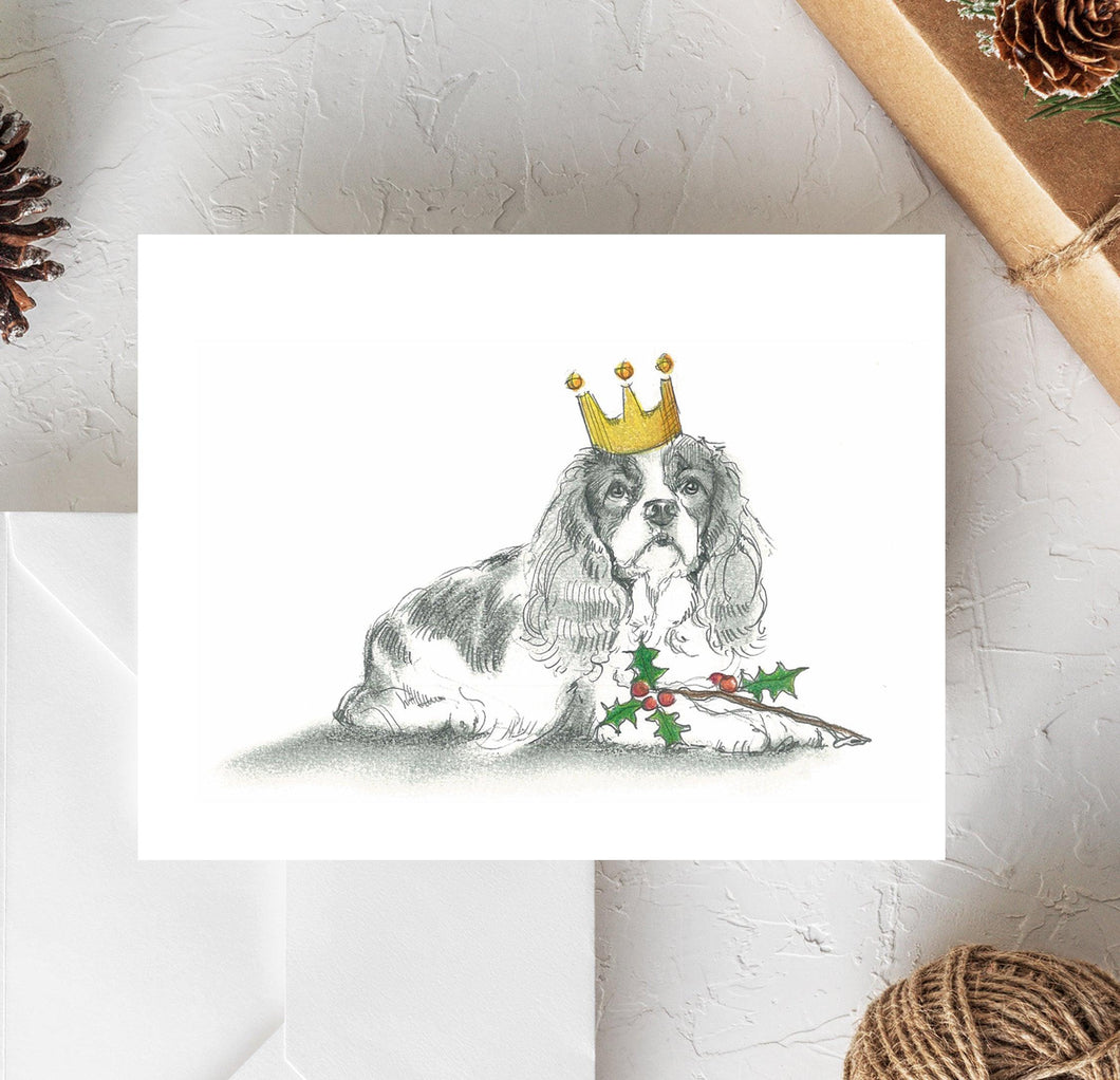 Cavalier King Charles Holiday Card