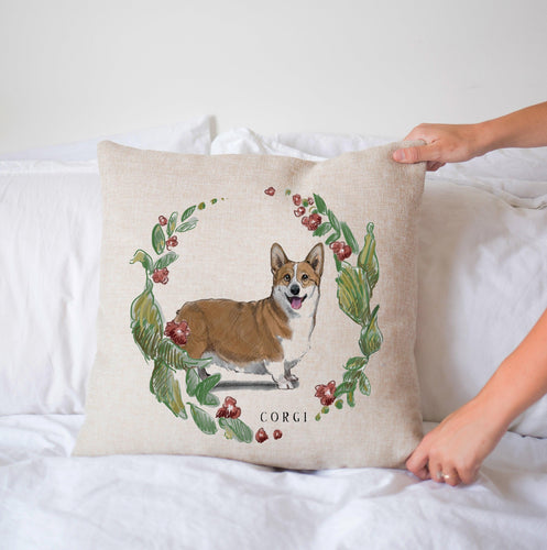 Corgi decorative pillow