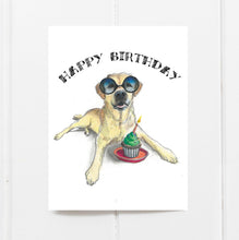 yellow labrador birthday card