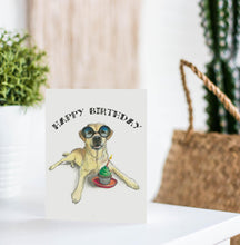 funny yellow labrador birthday card