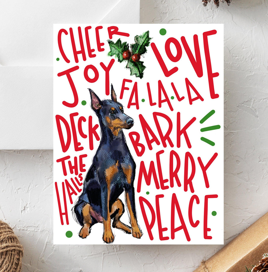 Doberman Holiday Card