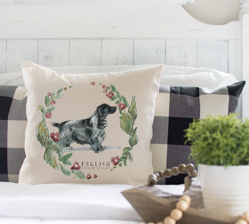 English cocker spaniel decorative pillow