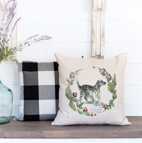 English setter decorative pillow