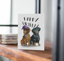 funny dachshund birthday card
