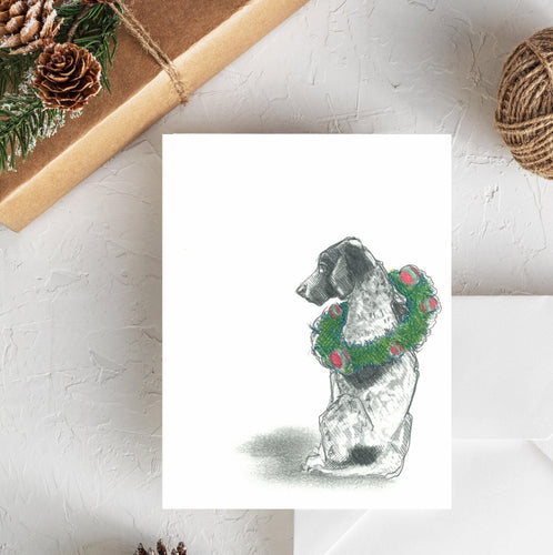 german shorthaired pointer christmas card