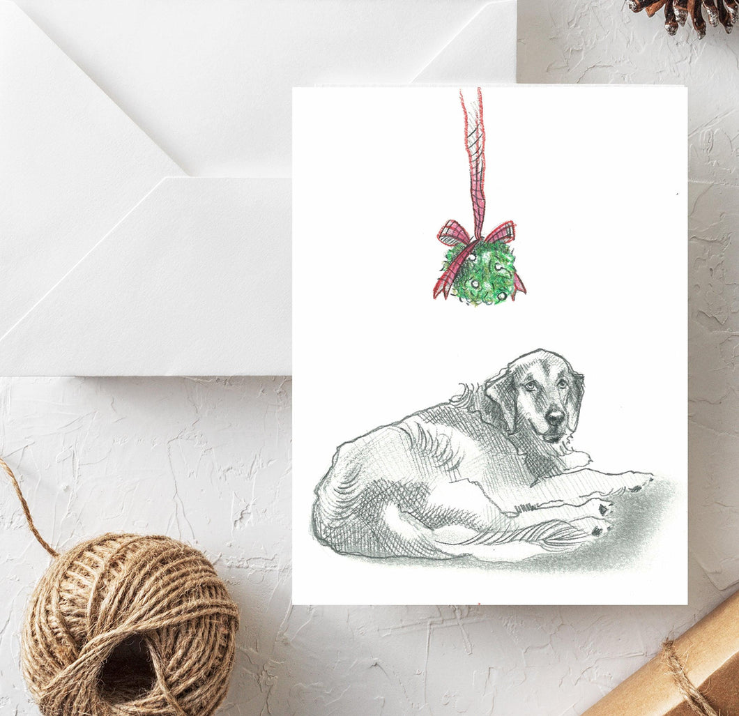 Golden Retriever Holiday Card