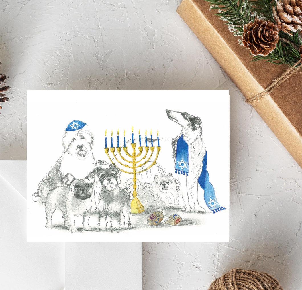 dog hanukkah card