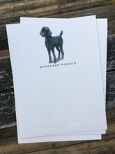 Standard Poodle Note Cards