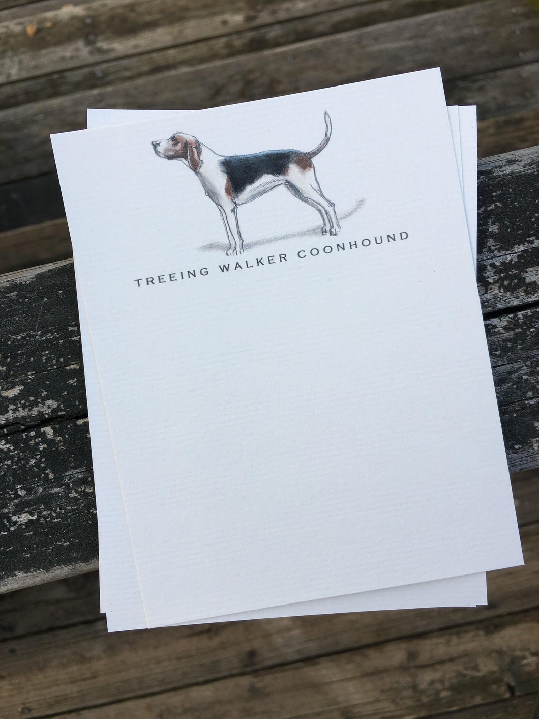 Buy elegant Treeing Walker Coonhound Notecards for $11.00 by Rachel Canada Artist