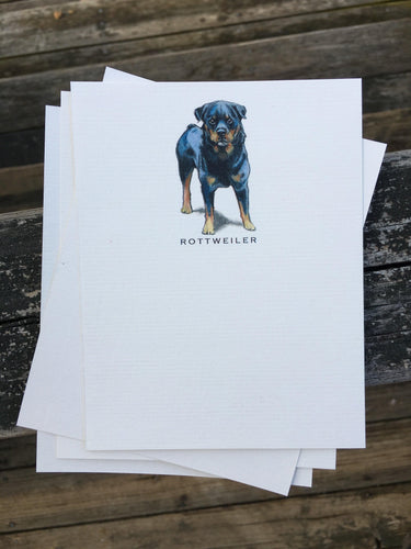 Buy elegant Rottweiler Notecards for $11.00 by Rachel Canada Artist