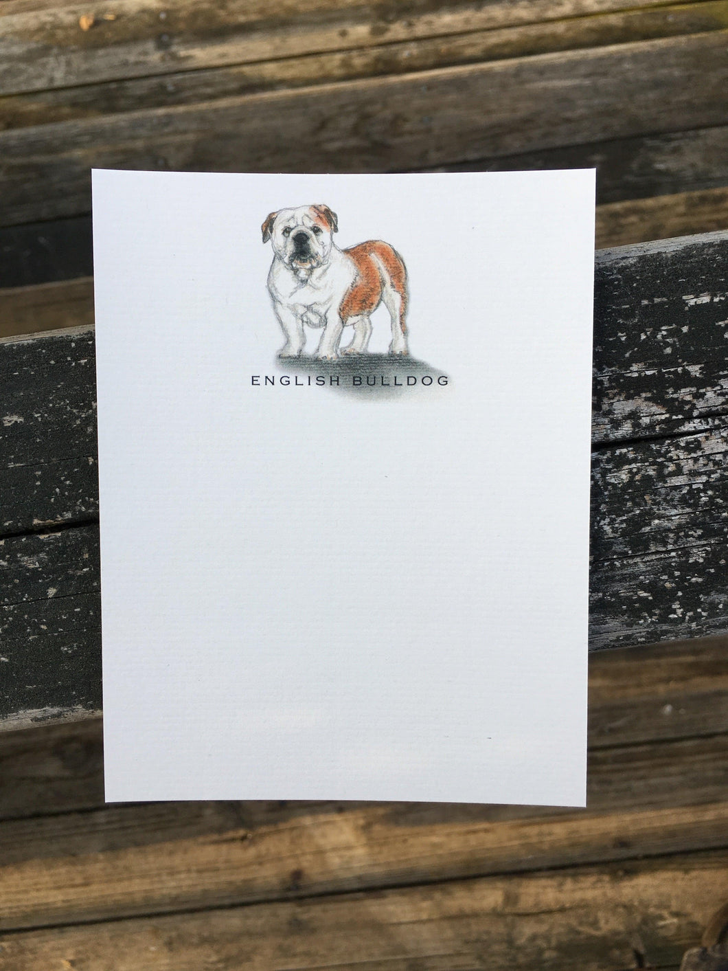 English Bulldog Notecards