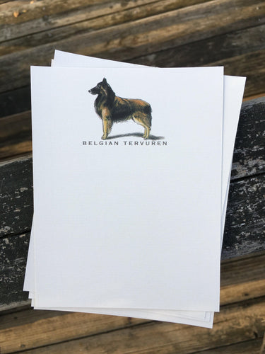 Buy elegant Belgian Tervuren Notecards for $11.00 by Rachel Canada Artist