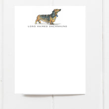 long haired dachshund note card