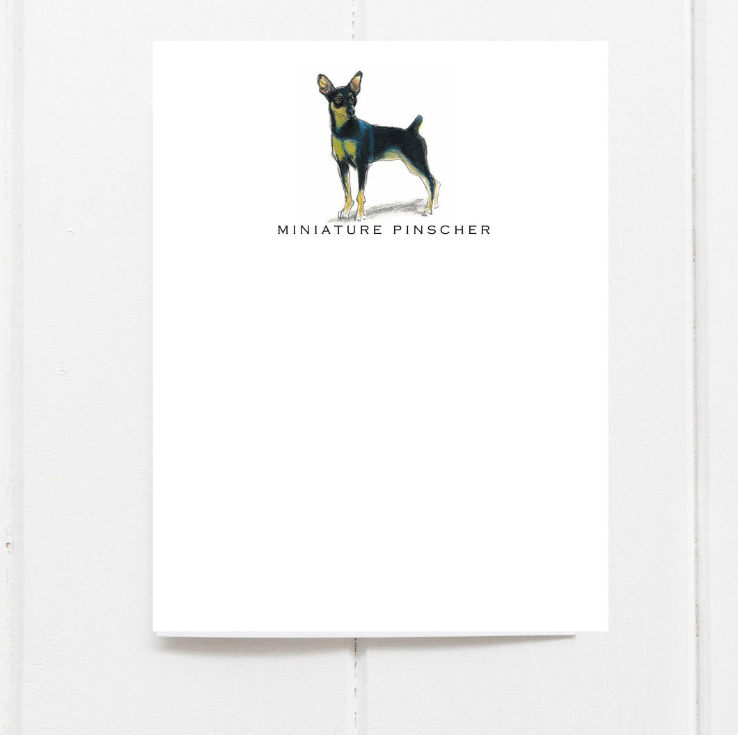 miniature pinscher note cards