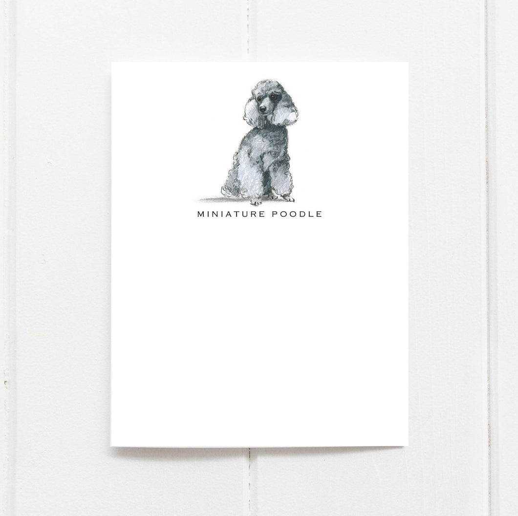 miniature poodle note cards