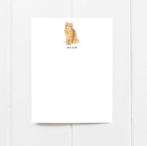 orange tabby cat note cards