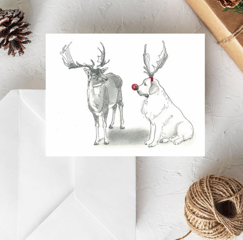 great pyrenees christmas card