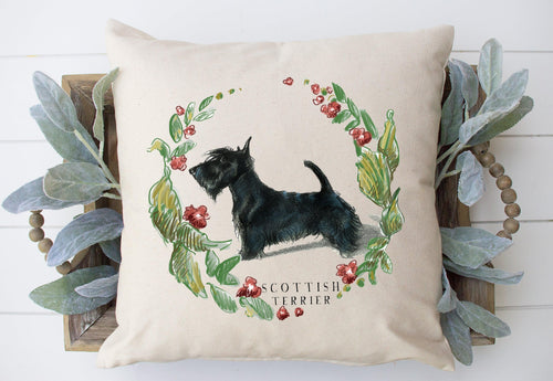 Scottish terrier decorative pillow