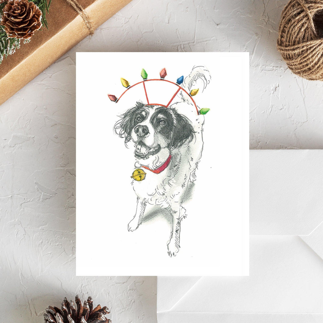 English Setter II Holiday Card