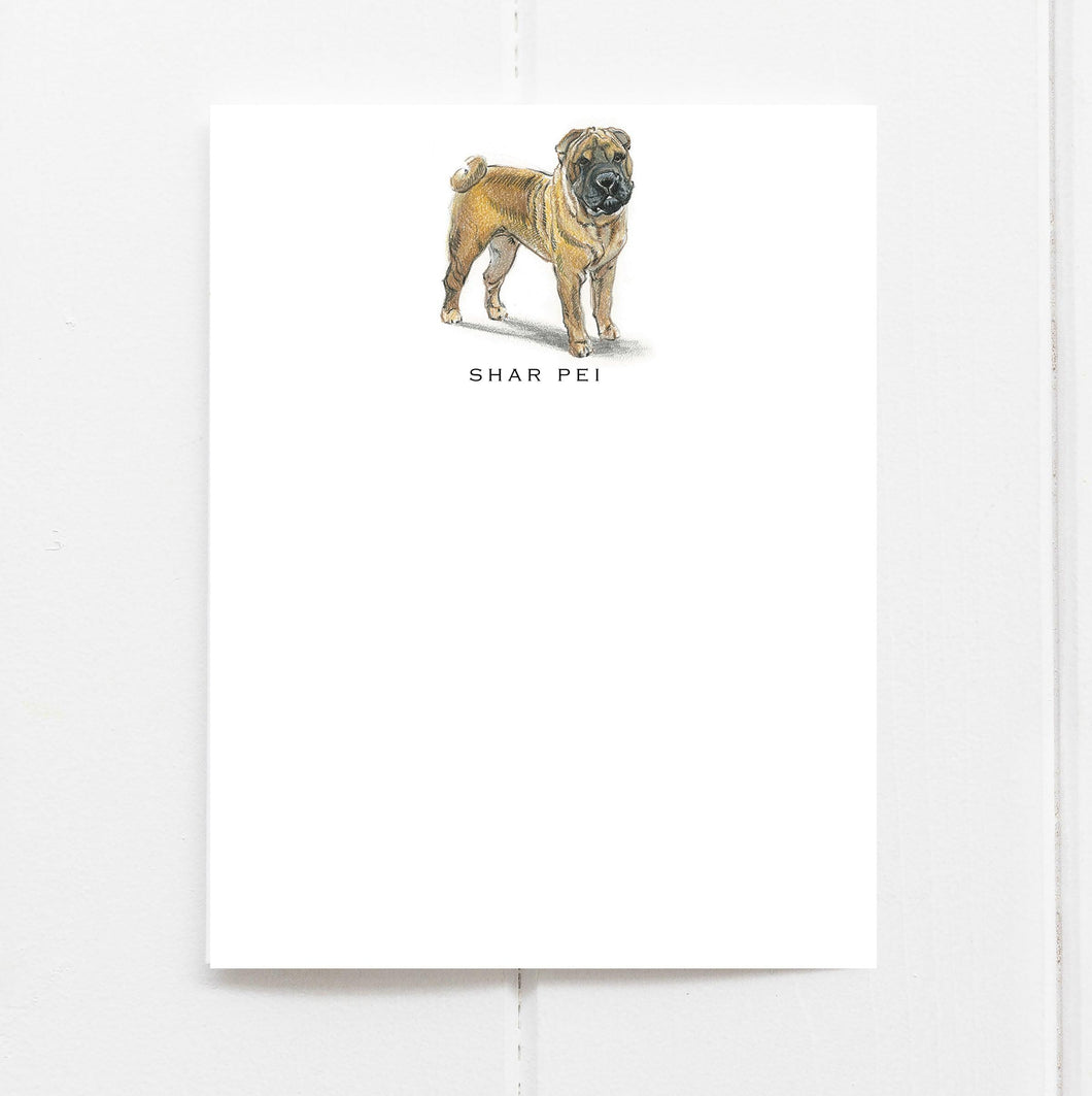 shar pei note cards
