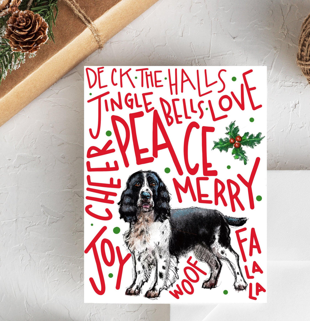 English Springer Spaniel II Holiday Card