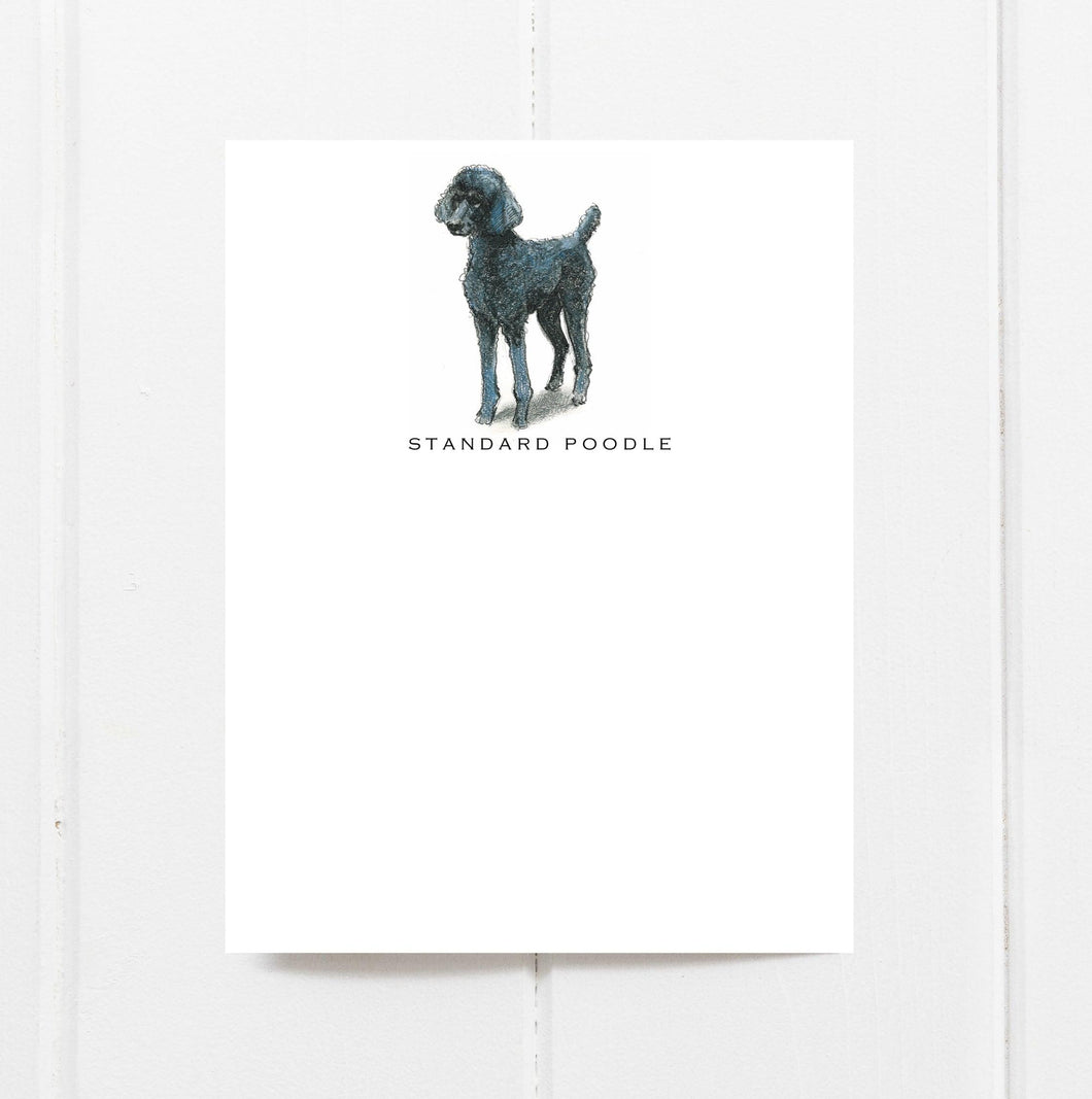 standard poodle note card