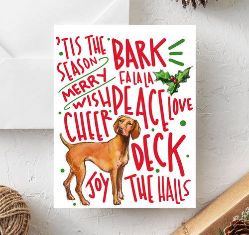 Vizsla Holiday Card