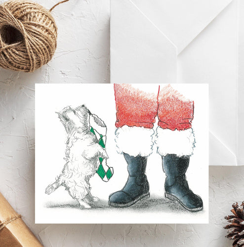 westie west highland terrier christmas card