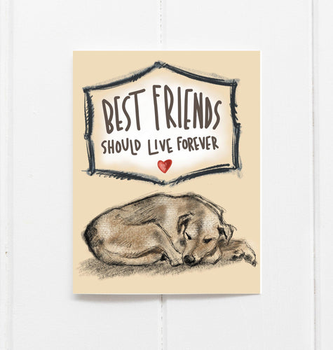 Best Friends Should Live Forever - Dog