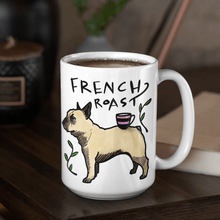 15oz mug with French bulldog and coffee quote