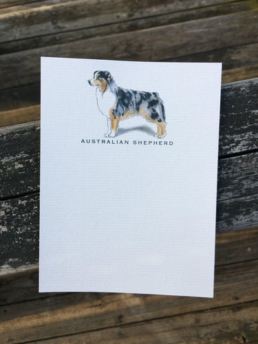 Buy elegant Australian Shepherd Notecards for $11.00 by Rachel Canada Artist
