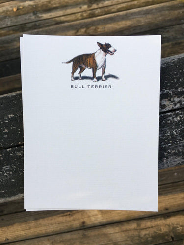 Buy elegant Bull Terrier Notecards for $11.00 by Rachel Canada Artist