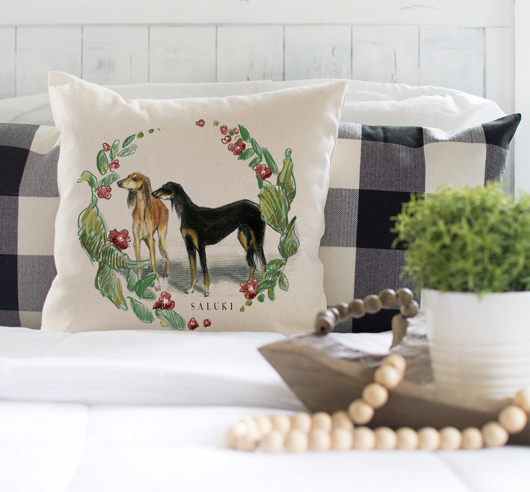 decorative saluki pillow
