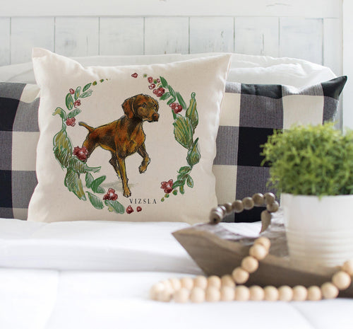 decorative vizsla pillow