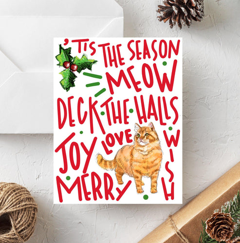 Orange Tabby Holiday Card