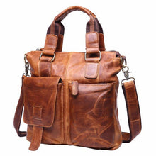 Vintage Men's Buffalo Leather Messenger Satchel Laptop Briefcase