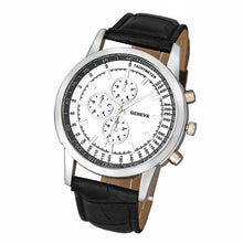 Genvivia Luxury Men's Fashion Business Watch - Leather Band Analog Quartz