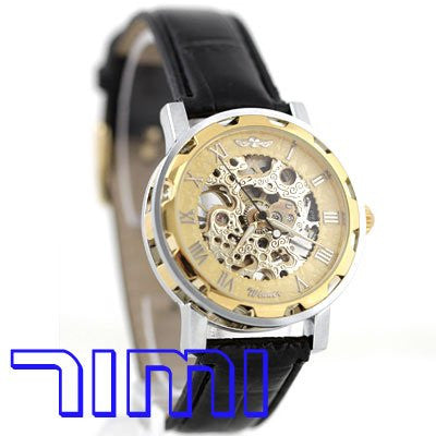 Men's Skeleton Golden Mechanical WristWatch