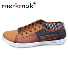 Men's Canvas Patchwork Breathable Lace-Up Casual Shoes