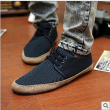 Men's Casual Lace Breathe Freely Canvas Slip On Loafer