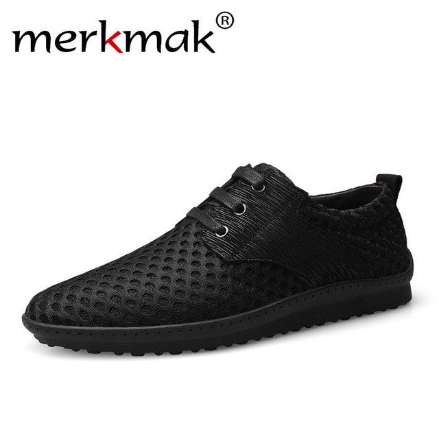 Men's Fashion Air Mesh Casual  Breathable Lace Up Shoes