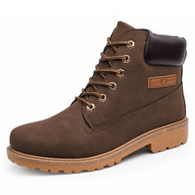 Men's Casual High Top British Style Ankle PU Leather Boots