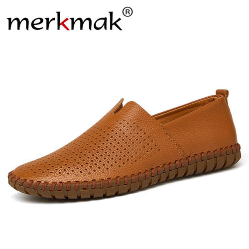 Men's Handmade Cow Leather Flat Loafers