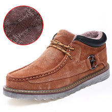 Men's Genuine Leather Casual Men Snow Warm Boots